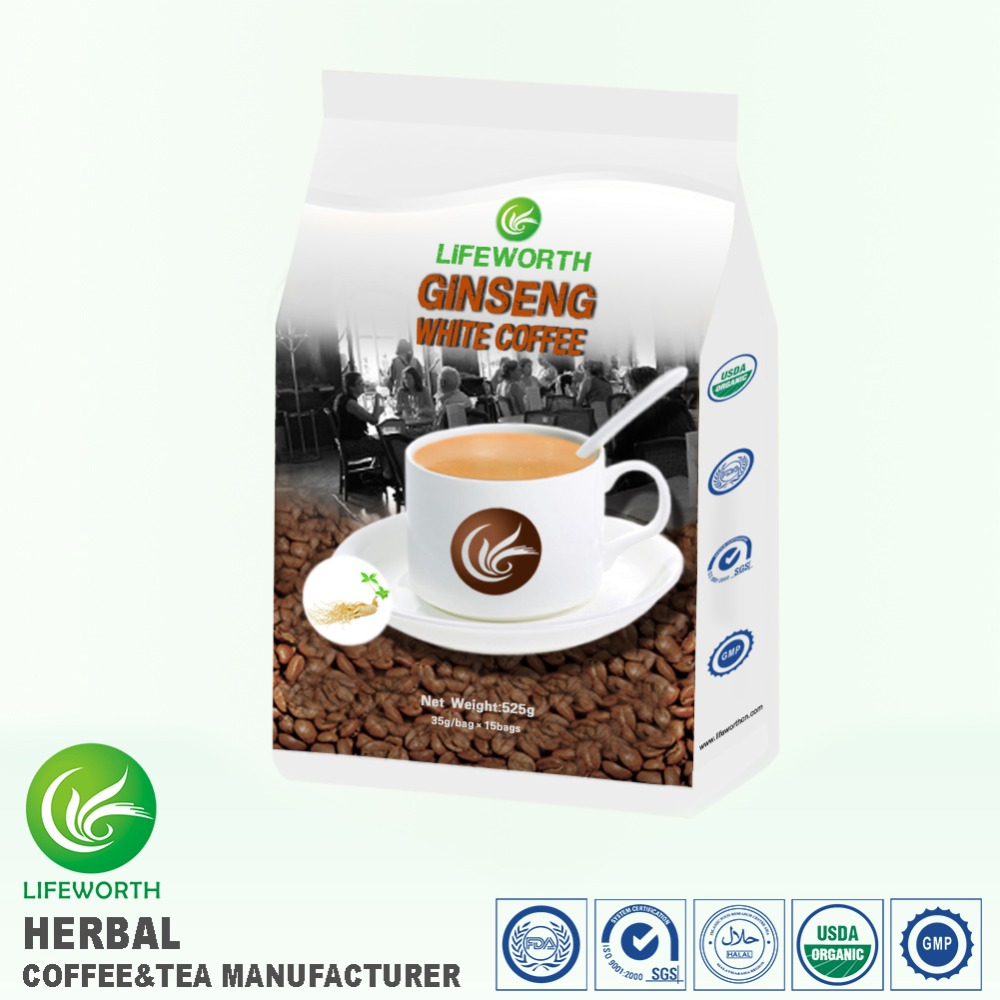 Lifeworth Best immune booster brazil organic instant white ginseng coffee