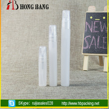Wholesales pp material clear blue night 5ml plastic design your own bottle perfume with pump spray cap