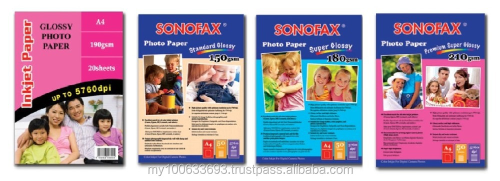 Sonofax Inkjet Photo Paper - Glossy