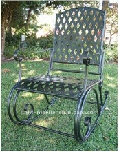 wrought iron rocking chair LMRC-51001