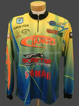 Wholesale Sublimation Printing Tournament Fishing Jersey
