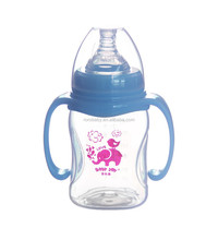 7oz 210ml food grade wide neck BPA free PP baby milk feeding bottle with liquid silicone nipple