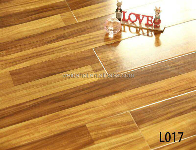 Look and feel of natural wood <strong>grain</strong> 12mm hdf AC4 Durability Rating Click locking diy laminate flooring with Beveled Edges