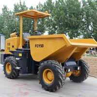 Short transport 5 Ton rops and canopy mini site dumper