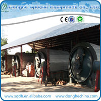 Latest technology waste tire recycling machine pyrolysis machine with 8 to10 ton per day capacity