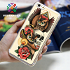 2016 best-selling flowers skull phone case cover for iphone