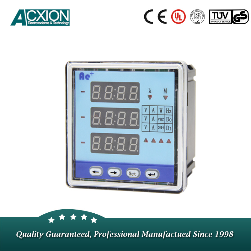 Three Phase Multifunction Bi-directional Energy Power Meter with Alarm