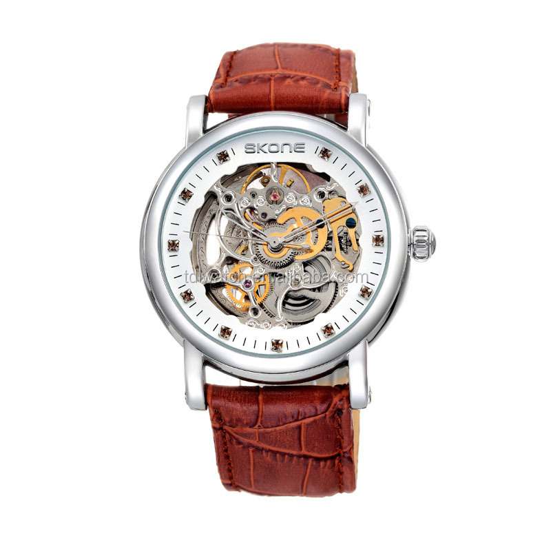 S80055 Automatic Mechanical watches With Colorful CZ Stones