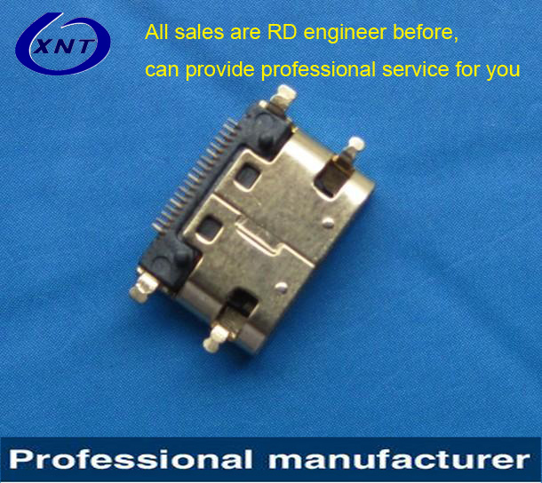 0021BAAG19Q smt type 19pin usb hdmi solder connector