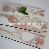 norwegian red marbled aluminium composite panels