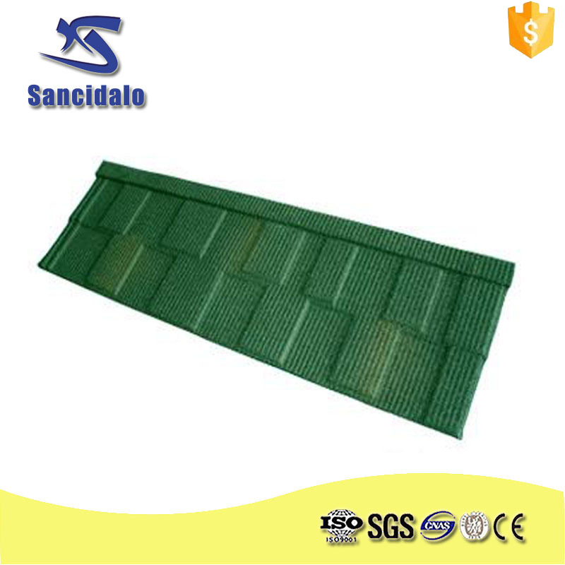 Colorful sand coated steel roof/stone granule coated steel roof tile