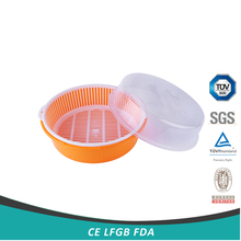 plastic fruit basket with transparent cover