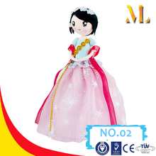 MLTB2P Children safe clay made beautiful handband princess doll with flowers dress personalized clay doll