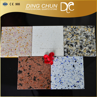 hotel lobby used artificial color quartz flat counter tops