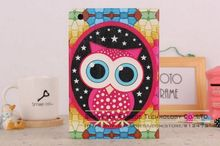 Tablet Stand Cover Leather Case for iPad 2 3 4, Tablet PC Case Stand Back Holder Bling Cute Owl Case Cover for iPad