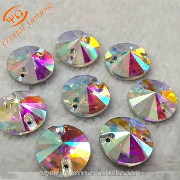 round 16 mm sew on crystal rhinestones beads for dance garment