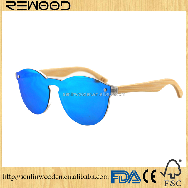 Newest design OEM PC frame bamboo sunglasses 2018 cheap factory price