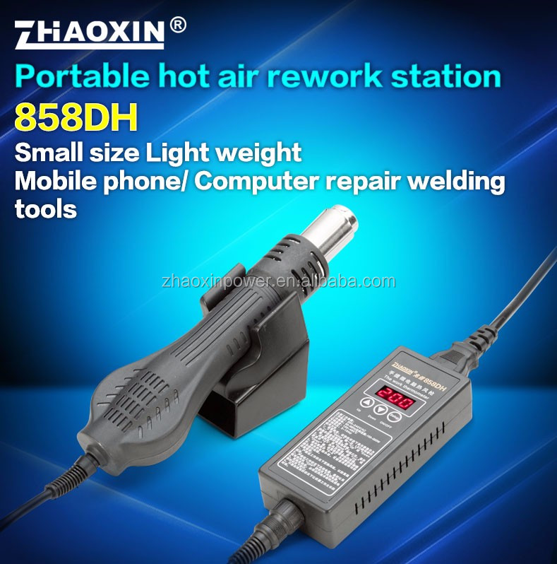 ZHAOXIN 858DH Brushless fan hot air rework station factory