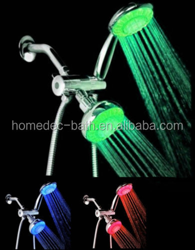 All-Chrome 3-way LED RGB Shower Head shower set HandHeld shower