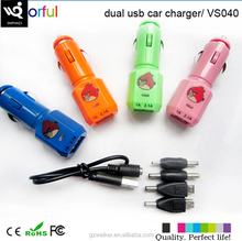 Hot Selling High Quality Factory Prices Bird Shape Design Dual Usb Car Battery Charger for iphone