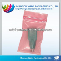 OEM custom printed resealable antistatic plastic bag with zipper