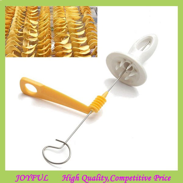 professional potato chips slicer / spiral potato cutter / Potato Cutting Machine