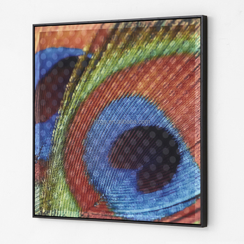 31091S 3d Printing On Fabric Hand Blown Glass Wall Art