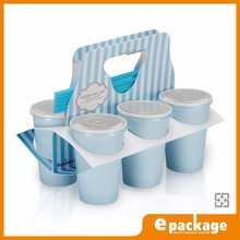 6 Pack Carrier Take Away Paper Cup Holder With Handle