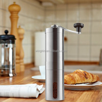 Manual Coffee Mill Made with Professional Grade Stainless Steel Adjustable Ceramic Conical Burr -Perfect for Outdoor