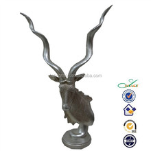 Home decoration silver plated polyresin deer antler models