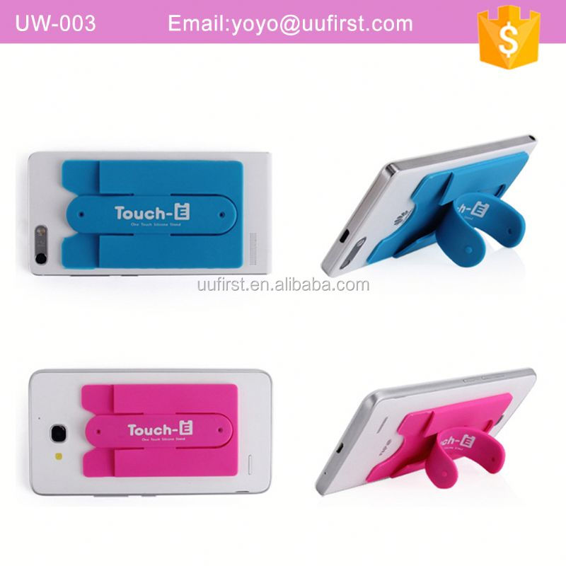 Silicone Smart Phone Case Wallet With Holder