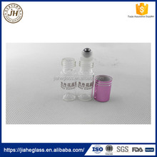 clear cosmetic packaging glass vial sample roller on bottles for essential oil perfume bottles