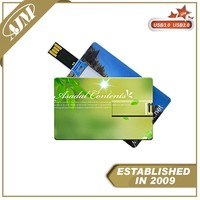 USB Flash Business Card USB Drive ThumbDrive Flash With Full Color Printing