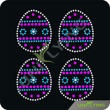 Colorful Easter rhinestone geometric motifs