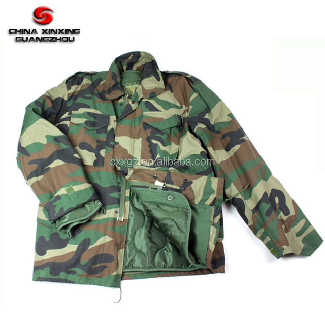 Woodland Camouflage Army Winter M65 Field Military Jacket Parka