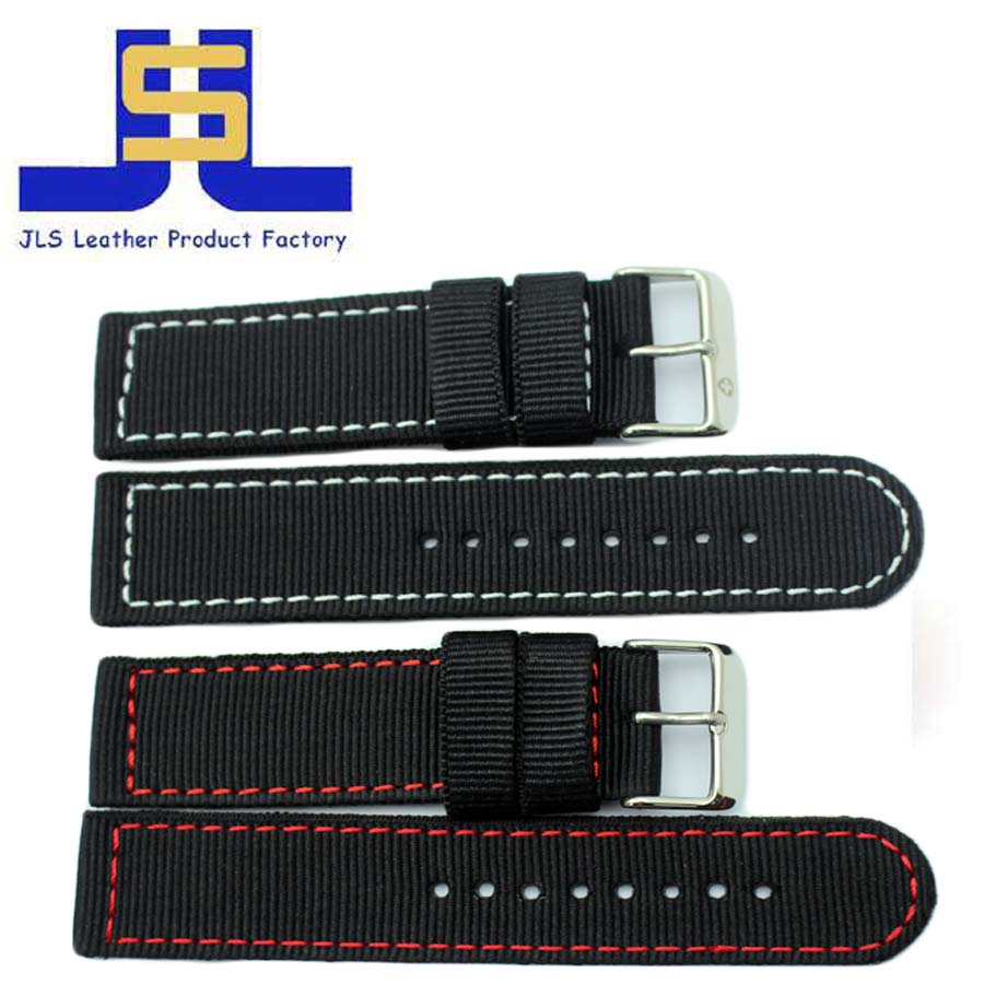 high quality new style soft nylon watch strap with colorful stitch