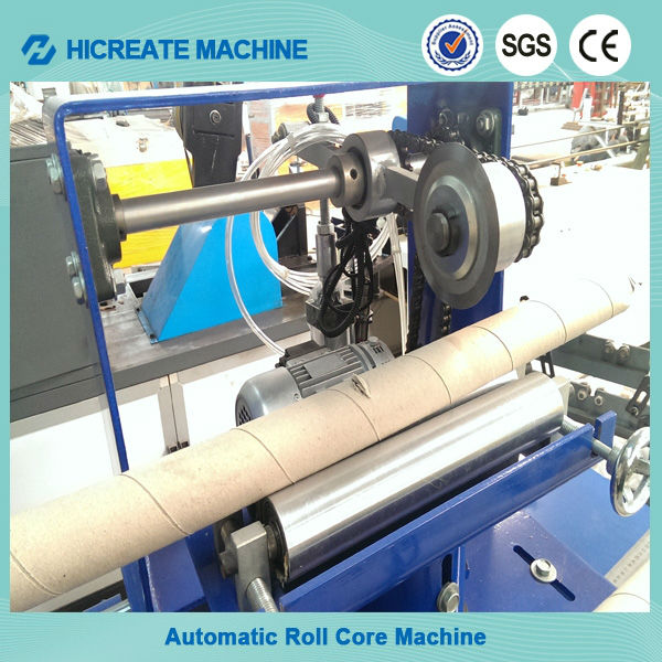 spiral kraft tube paper core winding making machine