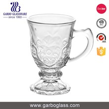 Wholesale simple beer glass mug with handle