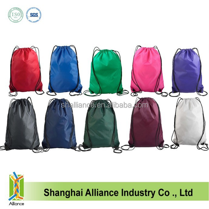 Customised Nylon Drawstring Bag / Library Bag/Gym Sack