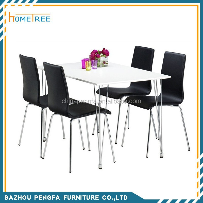Modern high gloss dining table and chair