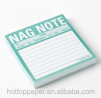 Promotional logo printing self adhesive note pad writing pads