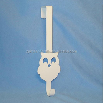 Metal Owl Shape Over the Door Hooks