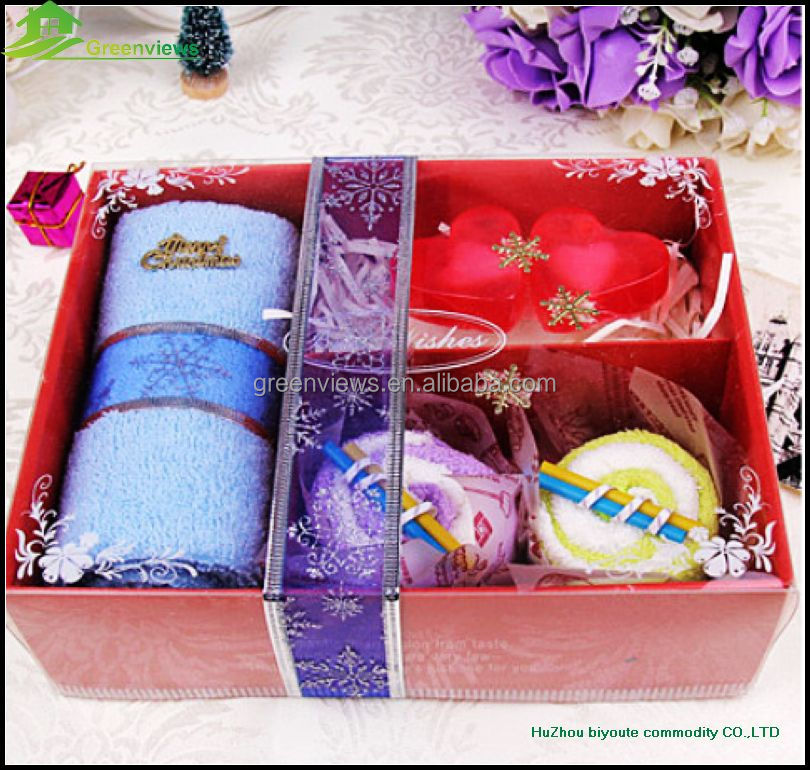 Cheap wedding gift for guest cake towel wedding souvenirs wholesale gifts baske towel cake gift box birthday towel