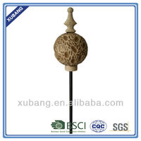 resin garden stakes carved wooden finish ball stakes