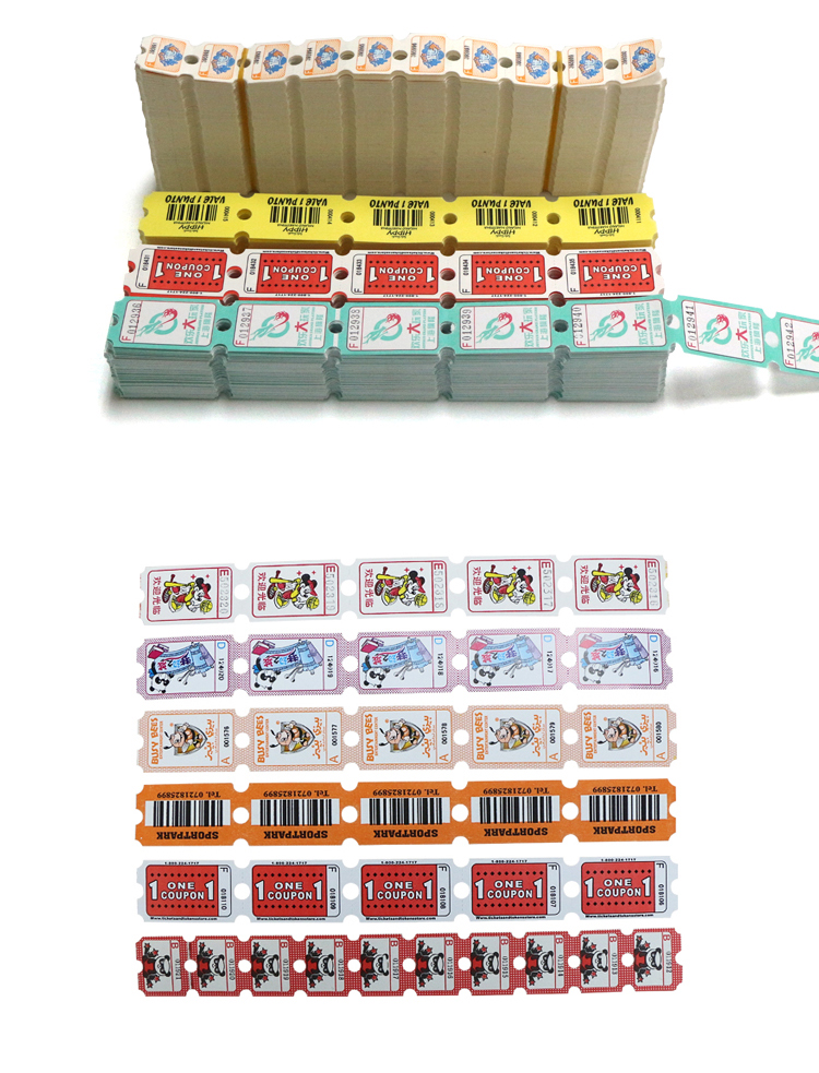 LK001 Lottery ticket for video game can put your own logo