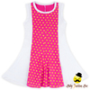 Latest Baby Frock Designs Gold Polka Dots With White Fabric Stitching Smocked Baby Dress