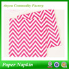 Printed spring paper napkins, chevron paper party napkins, promotional chevron printed napkin