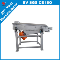 Compact design soybean powder linear vibrating screen machine