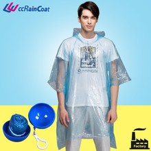 Disposable rain poncho with ball/ Disposable raincoat/ Rain coat