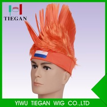 Wholesale sports with team sports synthetic spike wigs synthetic wig multi color wigs football fan accessories